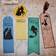 Scrappy Mel: 2 New Scrappy Moms Stamps Sets - Sneak Disney Bookmarks, Creative Bookmarks, Bookmarks For Books, Handmade Bookmarks, Corner Bookmarks, Disney Diy, Disney Crafts, Bookmark Craft, Art Painting Gallery