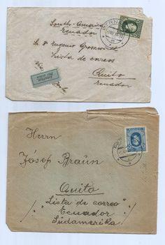 Czechoslovakia 1939 Lot of (3) Covers ,Trnava, Phraha to Ecuador Nice Cancel