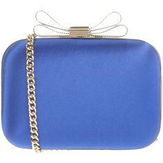 Chiara P Handbag ($155) ❤ liked on Polyvore featuring bags, handbags, bright blue, snap closure purse, metallic handbags, metallic purse, handbags bags and handbag purse