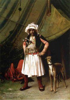 Jean_Leon_Gerome_- Bashi-Bazouk and his dog 1