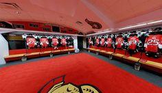 Ottawa Senators Locker Room Hockey Decor, Nhl News, Hockey Teams, Locker, Ottawa, Bedrooms, Sporty, Geek, The Unit