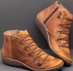 Botines de cuero para dama  € 19.36 & Envío gratuito   #infantil #supersale72 #bebe #lookesstiloso #vestid #bolsosbebe #modafeminina #electronicas #electronica Flat Heel Boots, Velvet Ankle Boots, Ankle Booties, Leather Booties, Suede Boots, Leather Sneakers, Casual Heels, Casual Boots, Women's Casual