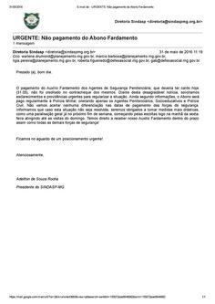 ALEXANDRE GUERREIRO: ATENÇÃO: O SINDASP-MG já cobrou um posicionamento ...