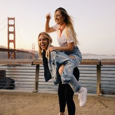 It took forever to get this picture! We balanced the camera on a wall and after about 15 tries we finally got a good one  #sisters #sanfrancisco #travelphotography