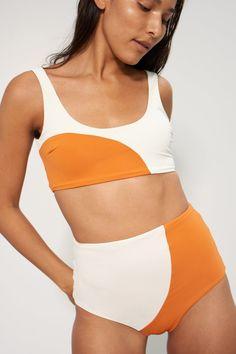 9d271b995a Mara Hoffman Lira Bikini Top in Orange   Cream