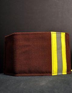 Bunker Gear Tri-Fold Wallet- Black Helmet Firefighter Apparel