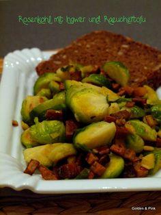 Rosenkohl mit Ingwer und Räuchertofu, vegan