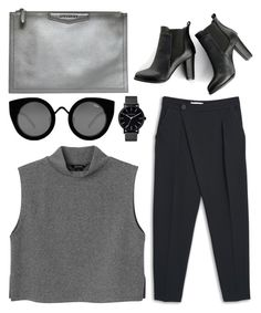 """""""sorry"""" by grey-eyes ❤ liked on Polyvore featuring Givenchy, Quay, The Horse, Monki, MANGO and SWEET MANGO"""