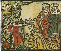 Pépin le Bref est couronné à Soissons par saint Boniface (Musée des Arts décoratifs, Paris)