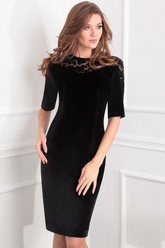 707ceea68a59 Модель 13365 черный Sandyna. Cold Shoulder Dress. Роскошное женское платье  приталенного ...