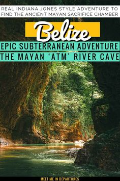 The ATM Cave Belize is a MUST for every adventure seeker. Cross rivers & jungle, enter the subterranean world to discover Mayan sacrifice chamber. Honduras, Life Is An Adventure, Adventure Travel, Adventure Tours, Travel Guides, Travel Tips, Honeymoon Destinations, Maldives Destinations, Belize Honeymoon