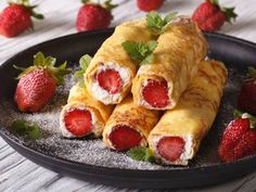 Strawberry croissant pastry ...a guaranteed-success at any dinner table. The warm and sweet strawberries are wrapped in a puff pastry, creating a memorable dessert worth tasting.