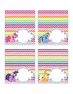 INSTANT DOWNLOAD My Little Pony Rainbow Food by IrrelephantDesigns, $3.50