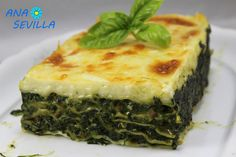 Lasaña de espinacas y jamón Quiche, Pizza, Breakfast, Food, Tortillas, Arrows, Cooking Recipes, Desserts, Traditional Kitchen