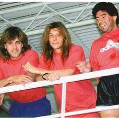 Batistuta, Caniggia y Maradona