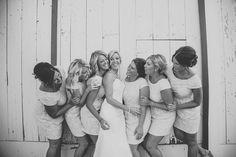 Bridesmaids - barn wedding ©Melissa Alderton Photography