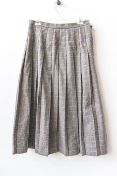 Foxley England- Heavy weight wool plaid riding skirt- Size M