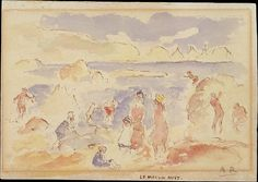 Auguste Renoir (French, 1841–1919). Beach Scene, 1883. The Metropolitan Museum of Art, New York. Robert Lehman Collection, 1975 (1975.1.687)