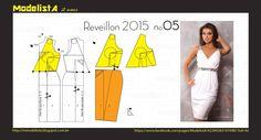 ModelistA: ANO NOVO - 5 Wrap Dress with Gathered Skirt