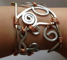 #Silver & #Copper #Wire #Bracelet by Eldwenne on #Etsy, $21.00 #handmade #jewelry #pagan #wiccan