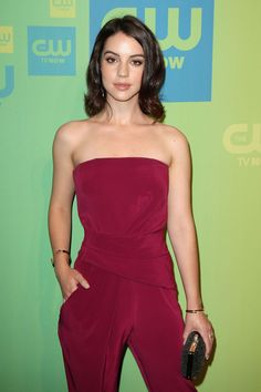 ADELAIDE KANE at CW Upfronts Presentation in New York. JUMPSUIT