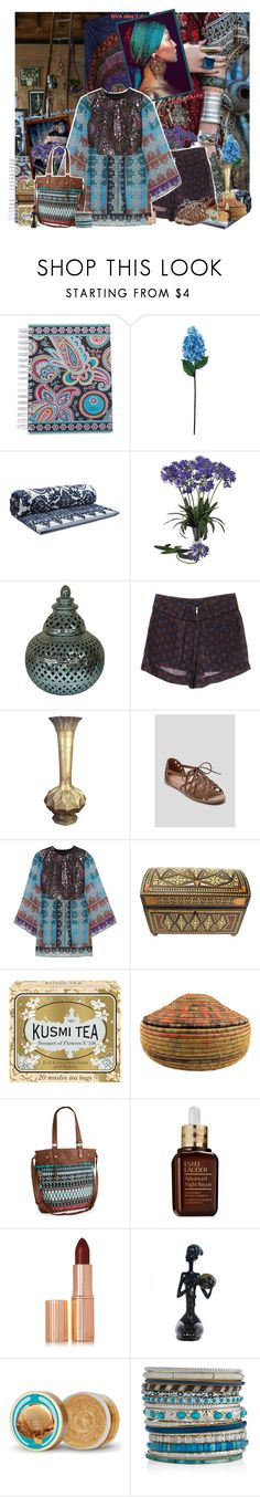 """Ethnic"" by valc5 ❤ liked on Polyvore featuring New House Textiles, Urban Outfitters, Vera Bradley, Laura Cole, Tory Burch, Nearly Natural, Maje, Anna Sui, Kusmi Tea and Aéropostale"