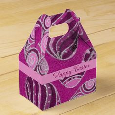 Check out Zazzle's variety of favor boxes! Browse all of our wonderful designs and get your favor bag today! Easter Cookies, Chocolate Box, Favor Boxes, Happy Easter, Holiday Parties, Easter Eggs, Colorful Backgrounds, Purple, Pink