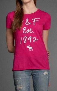 Camiseta Abercrombie Rosa AF7226