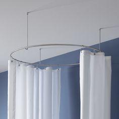 half round shower curtain rod john pinterest shower curtain rods curtain rods and shower. Black Bedroom Furniture Sets. Home Design Ideas