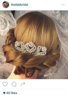 wedding hair accessories decorative comb by thefabbridaljewelry