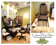 Lotus Day Spa - Langley BC Amazing pedicure . . . Comfy heated massage chairs; hot or cold neck wrap; choice of tea, hot chocolate, cucumber water or citrus water; fresh fruit & chocolate drizzled fortune cookie; white chocolate paraffin dip; great leg massage & pretty polish :) Going back again for my birthday.