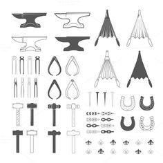 Blacksmith Tools. by Oleksii on Creative Market