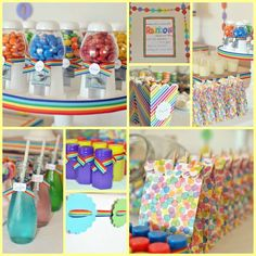 Rainbow Birthday Party Ideas | Photo 22 of 38 | Catch My Party