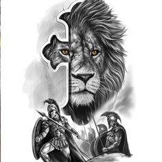 Family Tattoo Designs, Lion Tattoo Design, Sketch Tattoo Design, Tattoo Sleeve Designs, Jesus Tattoo, 4 Tattoo, Gladiator Tattoo, Samurai Warrior Tattoo, Warrior Tattoos