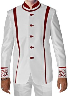 e55d3dec91aa1b Luxurious White 2 Pc Jodhpuri Suit Hotel Uniform, Nehru Jackets, Mens  Fashion Suits,