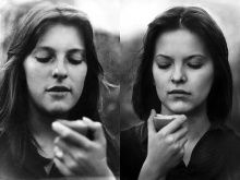 Big Picture - Mothers: black and white photo of mother and daughter