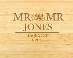 Personalised Couples Chopping Board - Mr