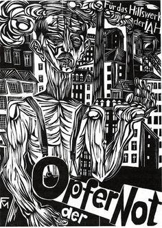 Post War posters |Conrad Felixmüller, Opfer der Not