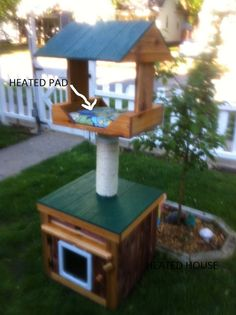 Heated Outdoor Cat House heated cedar heated loft by stabob, $699.00