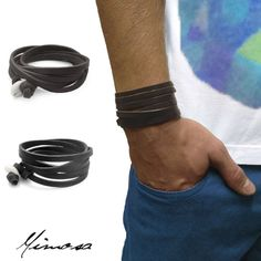 Armbänder & Armreife - MIMOSA Rio Wickelarmband Leder Armband Männer - ein Designerstück von MyMimosa bei DaWanda