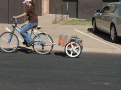 Bicycle cart from recycled camp cot