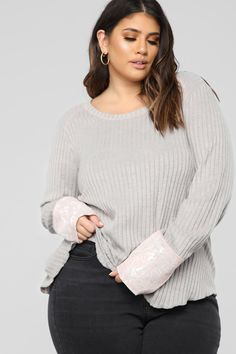 632acf2946d71 Amber Long Sleeve Top - Grey. Long Sleeve TopsAmberPlus SizeSleevesFashionPerfect  ...