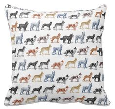 Decor Pillows, Decorative Pillows, Throw Pillows, Repeating Patterns, Black And White, Modern, Dogs, Design, Decorative Throw Pillows