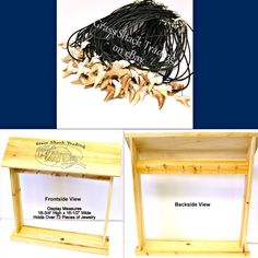 WHOLESALE 72 Shark Tooth Necklaces Plus Wood Counter Display Sharks Teeth Lot #1 #GrassShackTrading