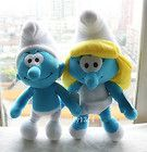 2ps 8-9'' The Smurfs II Character Plush Toy Smurf soft Doll boy clumsy Smurfette - 89'', Character, CLUMSY, Doll, PLUSH, Smurf, Smurfette, Smurfs, SOFT