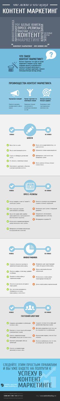 Инфографика: что можно и нужно, и чего нельзя делать в контент-маркетинге