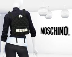 MA$ims4: Moschino Quilted Fabric Backpack