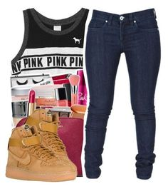 """""""Untitled #509"""" by amyaxbradford ❤ liked on Polyvore featuring beauty, Victoria's Secret, MICHAEL Michael Kors and NIKE"""