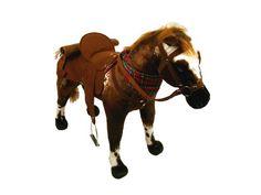 """Sonderaktion! Happy People Spielzeug Pferd Cowboypferd """"Anglo-Araber"""", mit Sound, Sattelhöhe ca. 49 cm, mit kariertem Halstuch + 2. Sattel i..."""