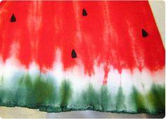 How to tie-dye a watermelon shirt